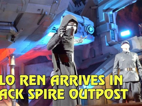 Kylo Ren Arrives in Black Spire Outpost at Star Wars: Galaxy's Edge