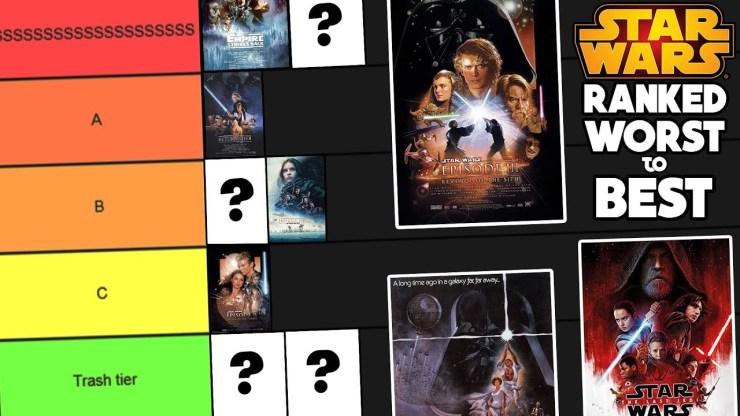Star Wars Movies: Ranked from WORST to BEST (Star Wars Film Tier List) 1