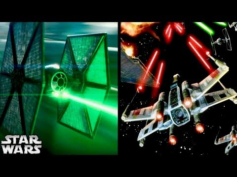 Why TIE Fighters Shot Green Bolts and X-wings Shot Red Bolts (Canon)