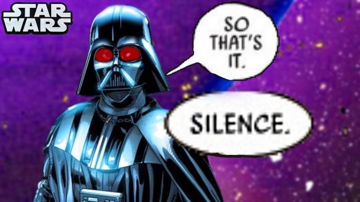 DARTH VADER EXPLODES IN ANGER At Tarkin!!(CANON) - Star Wars Comics 1