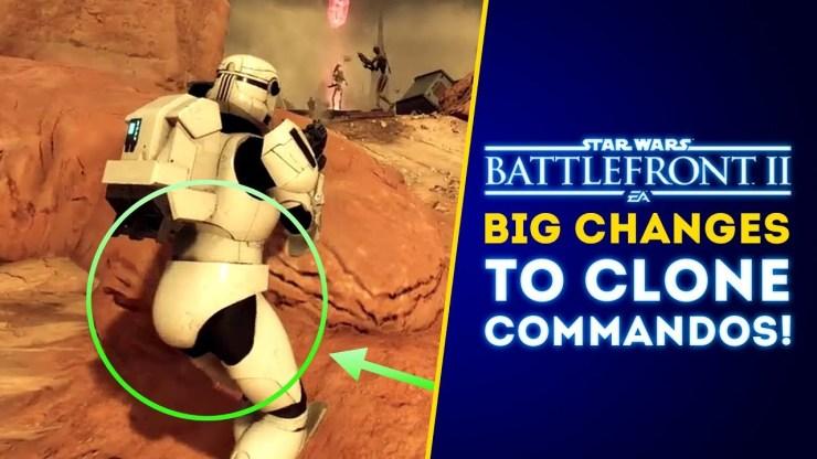 Big Changes to Clone Commandos! - Star Wars Battlefront II Update 1