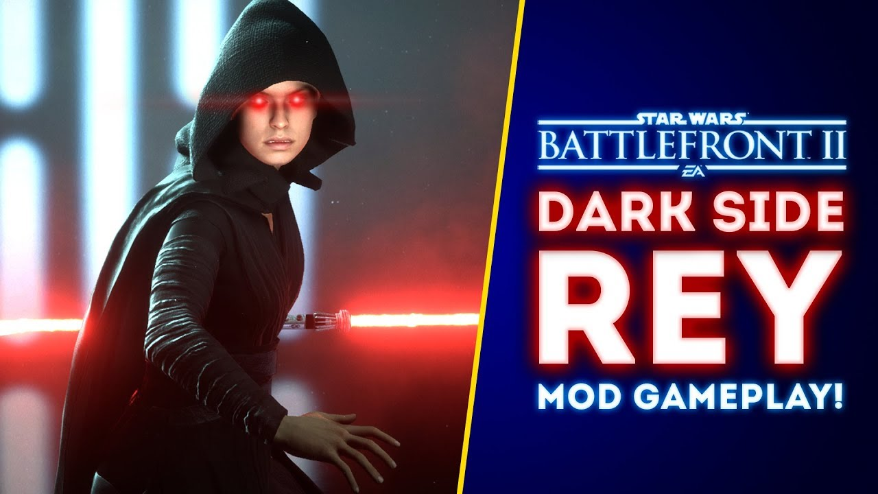 Epic Dark Side Rey Mod Gameplay The Rise Of Skywalker Mod Battlefront Ii Mods