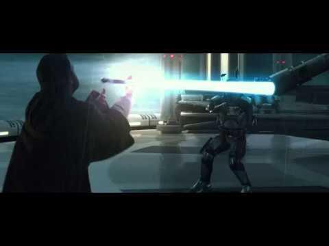 Star Wars Attack of the Clones - Obi-Wan VS Jango Fett (1080p) 1