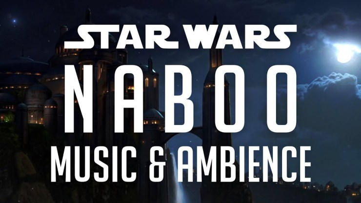 Star Wars Music & Ambience   Naboo, Peaceful Scene of the Theed Royal Palace 1