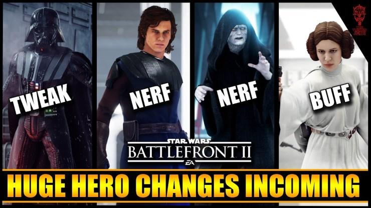 Huge Hero Changes! Anakin & Palpatine NERF and more! 1