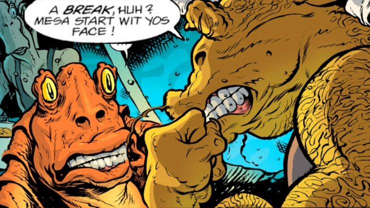 Jar Jar FINALLY gets punched in the face - Star Wars Comics 1