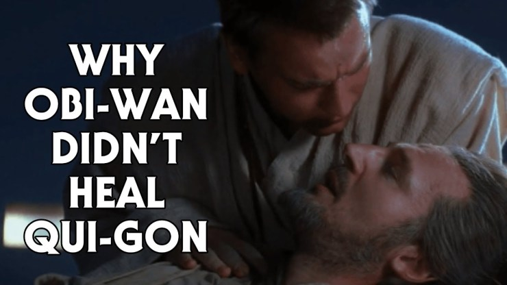 Why Obi-Wan Didn't Use the Force to Heal Qui-Gon 1