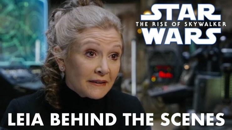 Star Wars The Rise of Skywalker Leia Behind the Scenes 1