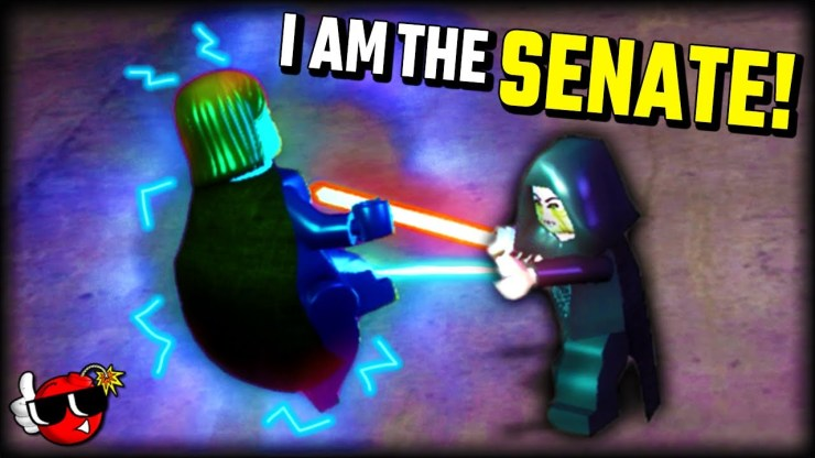 Palpatine Attacks The Senate In Lego Star Wars