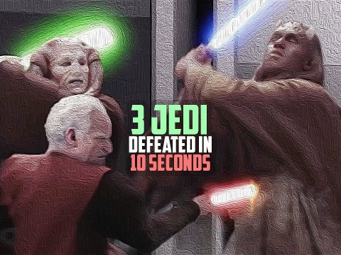 How Palpatine Defeated Three Jedi Masters in 10 Seconds 6