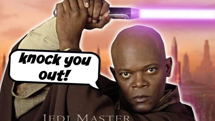 Mace Windu Wants to Use the Dark Side to Knock a Guy Out 1