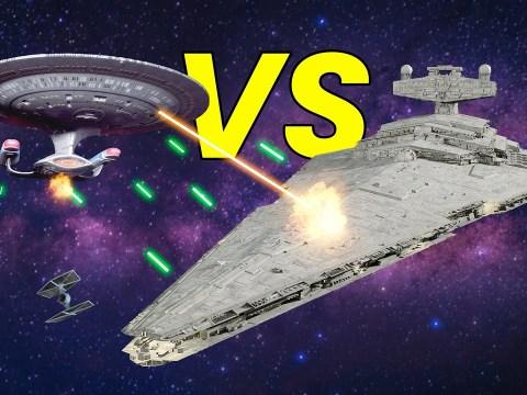 Imperial Star Destroyer VS USS Enterprise NCC 1701-D 6
