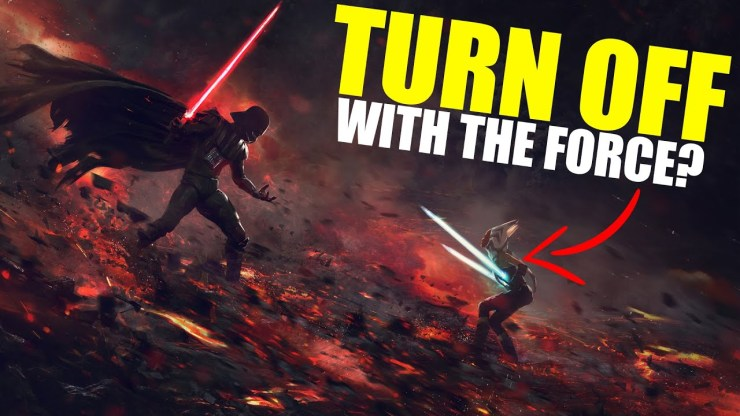 Why didn't Force Users Turn Off Each Other's Lightsabers? 1