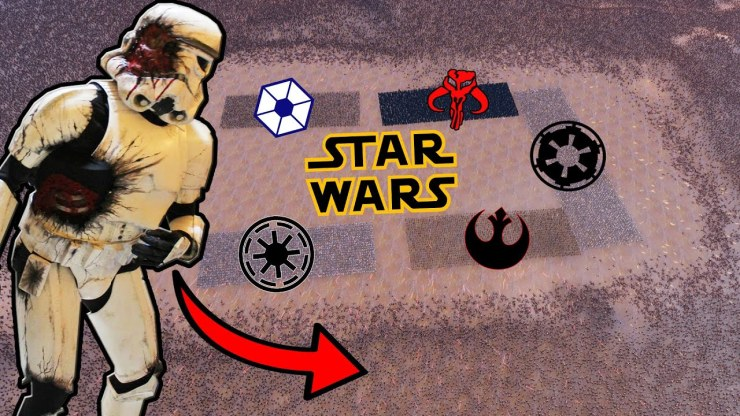 ALL Star Wars Armies Swarmed by ZOMBIES! - UEBS: Mods