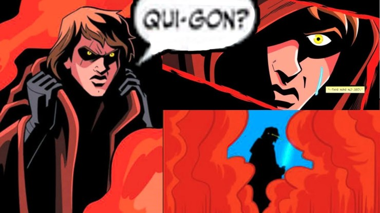 ANAKIN MEETS WITH QUI-GON ON MUSTAFAR(CANON)