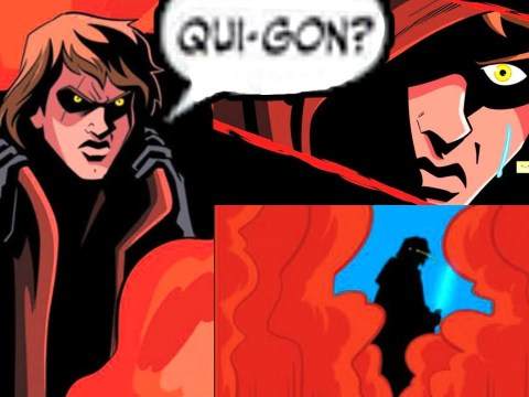 ANAKIN MEETS WITH QUI-GON ON MUSTAFAR(CANON) 4