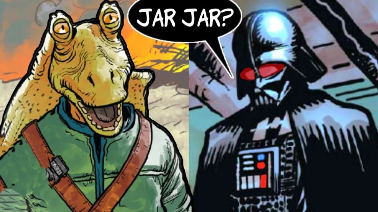 JAR JAR'S BROTHER SHOWS UP TO FIGHT DARTH VADER