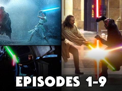 Every Lightsaber Duel from Star Wars Movies (Episodes 1-9)