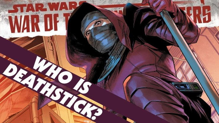 Deathstick Returns! Who is she?  War of the Bounty Hunters