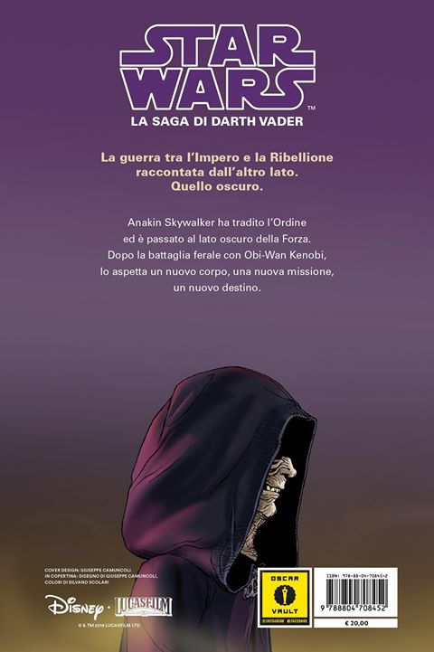 la saga di darth vader vol. 3 quarta di copertina