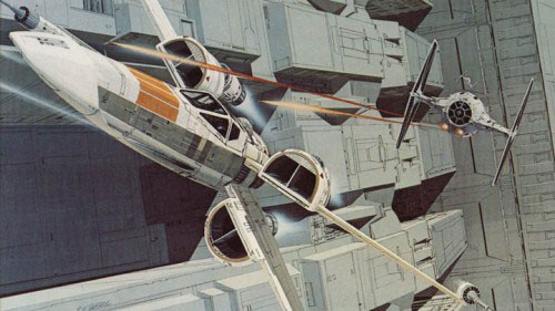 1970s concept art for the X-Wing