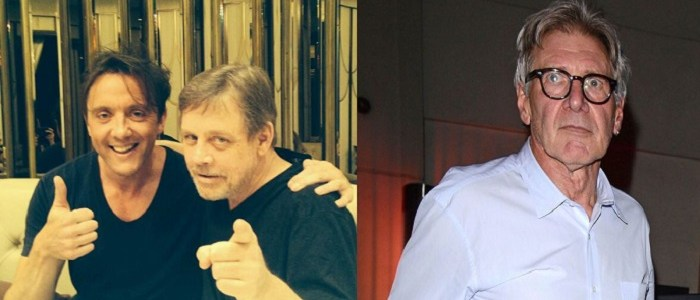 Imgaes Of Mark Hamill And Harrison Ford In London