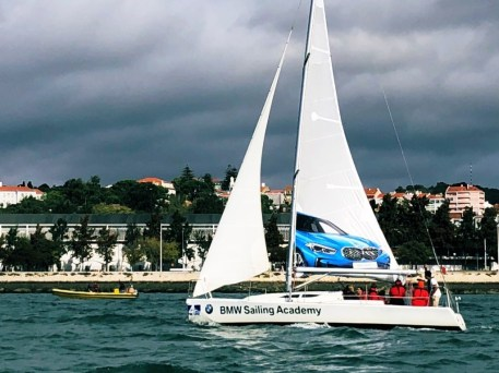 Sailing regatta across the Tagus river in Lisbon