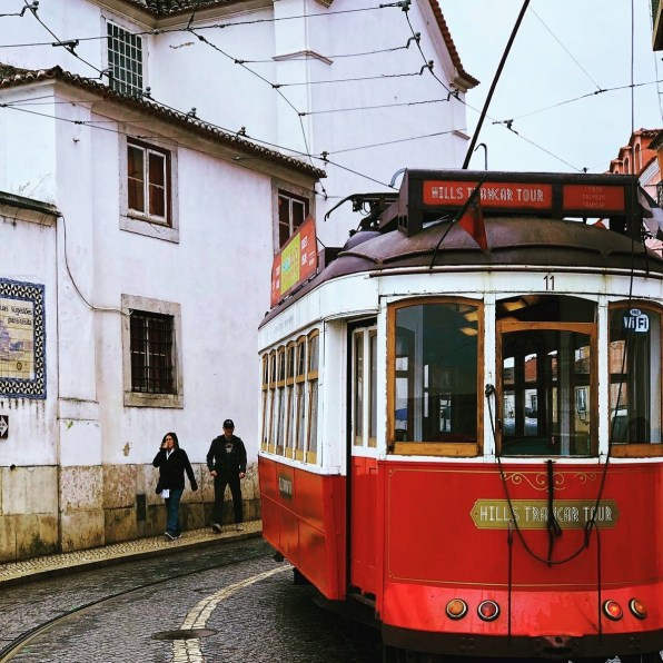 Tram for exclusive hire in Lisbon