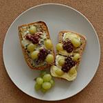 Ciabatta zapiekana z serem pleśniowym