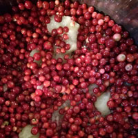 Dżem z czerwonych borówek z gruszkami