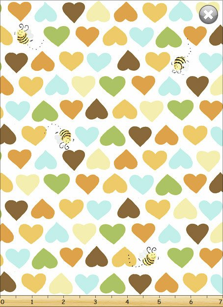 Susybee/'s Bees on White 100/% cotton fabric by the yard
