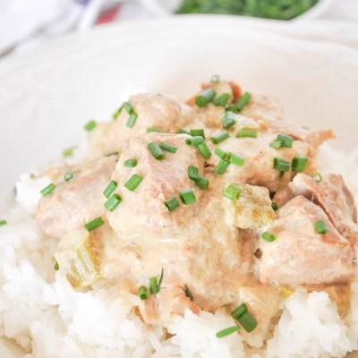 Slow Cooker Pork Tenderloin Casserole