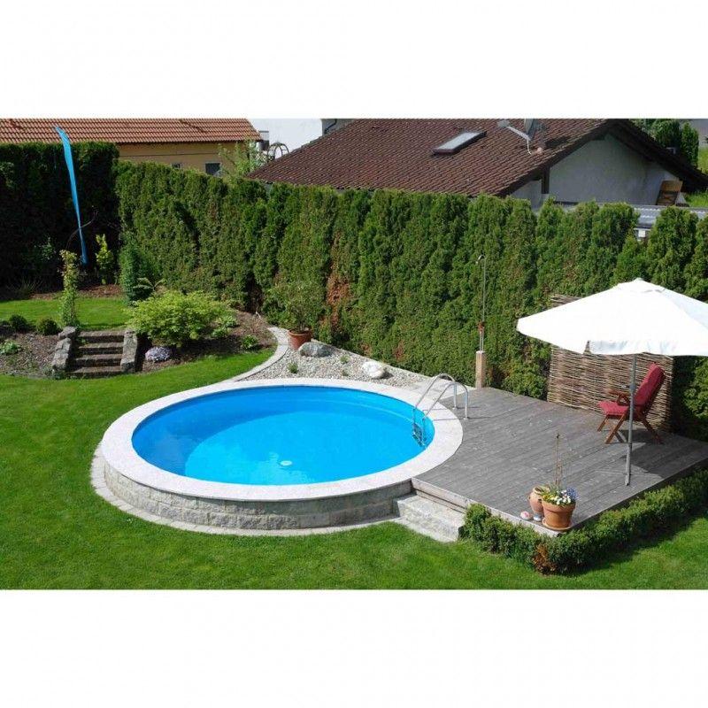 Inbouwzwembad Rond Set Platinum Pool Cm Diep