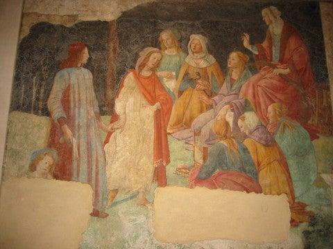 ボッチチェリのフレスコ畫   「カノンと見る宇宙(そら)」