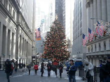 N.Y.に恋して☆-wall street christmas tree