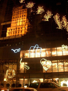 N.Y.に恋して☆-trump tower illumination