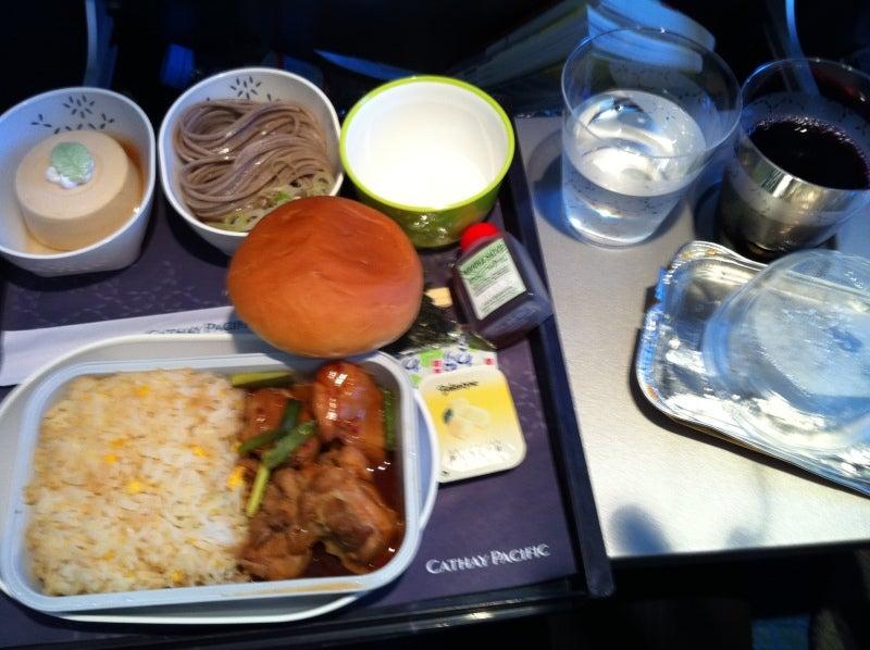 キャセイパシフィック航空 名古屋ー香港 機內食 | YASUHIRO TAKEUCHI BLOG