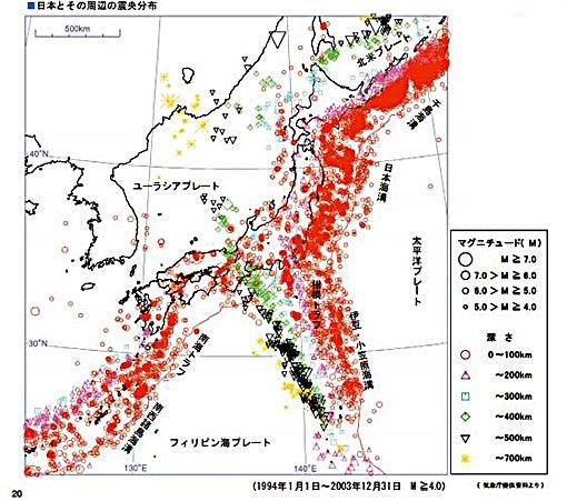 日本は自然災害大國:M6以上の地震回數,世界全體の20.5%,活火山數7.1%   げんぱつニュース