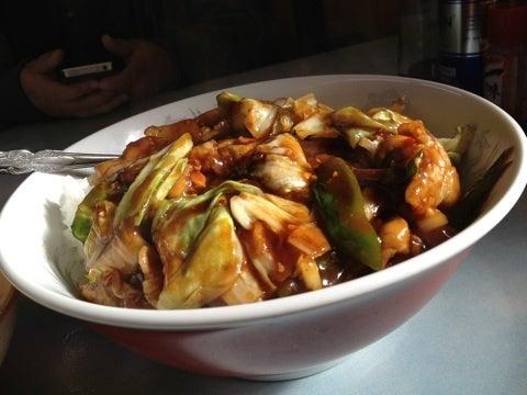 來週の食べる女は小樽市の龍鳳さんの餡掛け焼きそばかい ...