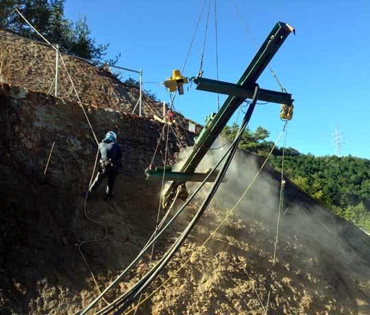 吊り式削孔機1