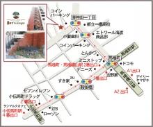 イスト・ヴィレッジ地図