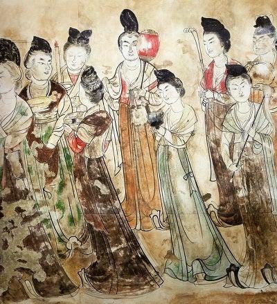 永泰公主墓壁畫。~中國の一押し美人畫。~ | ~淡粧濃抹 ...