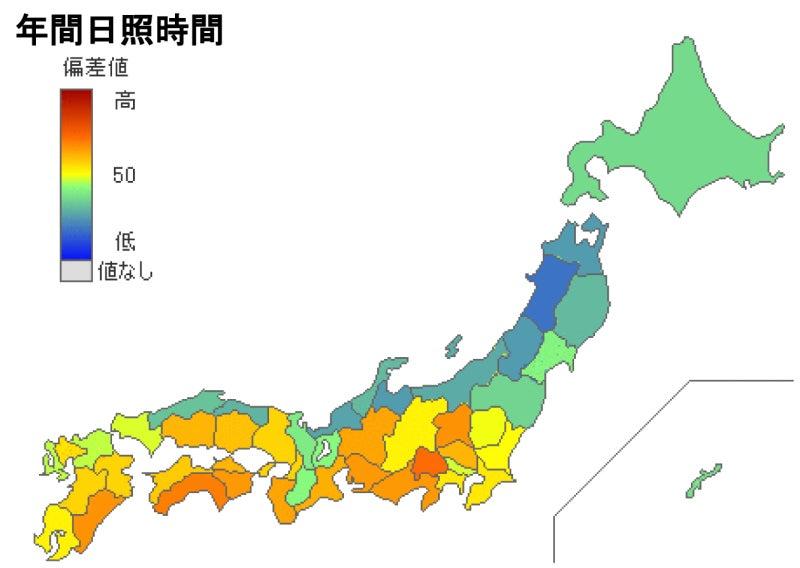 年間日照時間1位は山梨県,隣の長野県は… | 八ヶ岳山麓原村から