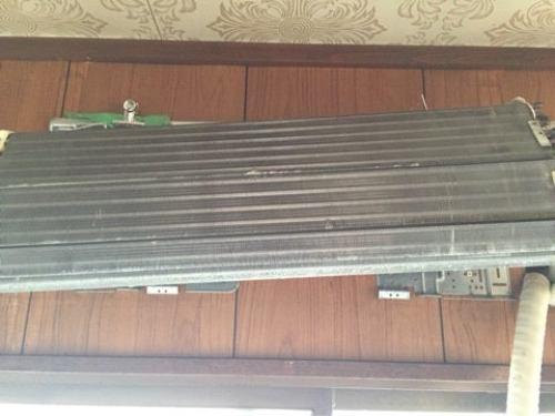 洗浄後 きれいになった熱交換器