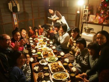夕食 集合写真
