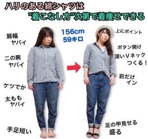 夏のカジュアルシャツ×デニムコーデで着痩せするには ...