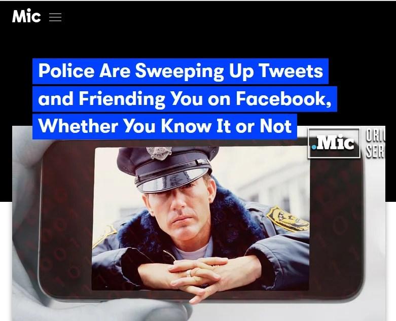 國民を監視するためにFacebookで警察が偽アカウントを使用中/偽 ...
