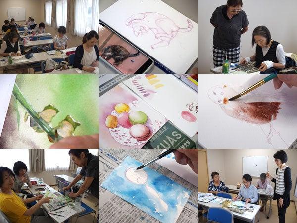 風鈴を描く@彩組   Mariの講座日記