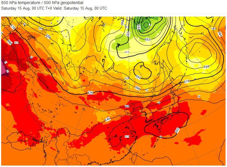 暑さのピーク 実況天気図10日分 / 梅雨明け頃との比較 / ECMWF高層天気図   英吉利物屋 いぎりすもんや