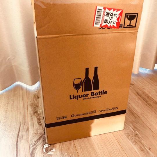スパークリングワインの箱の画像